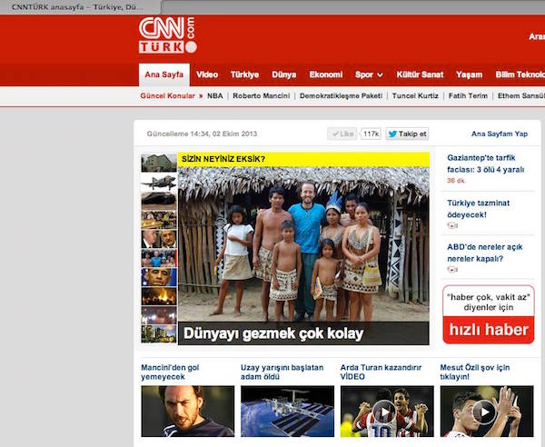 CNN Turkey Website