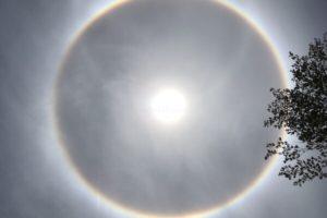 Solar Eclipse, UFO, Rainbow or Cirrostratus?